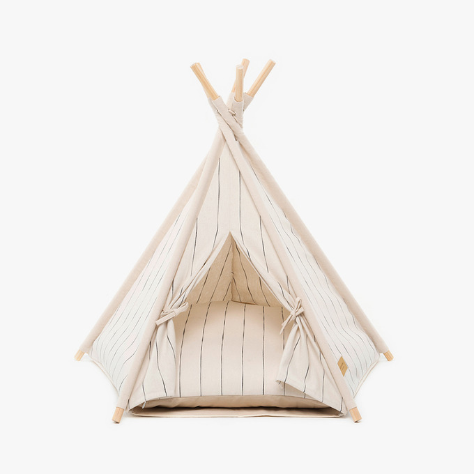 Tepee Tent (Pin Stripe Ivory)