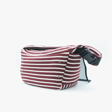 Daily Slingbag - (Stripe Wine)