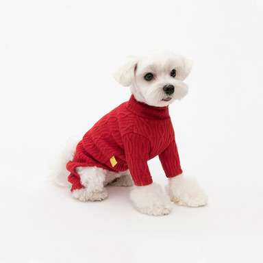 Cable Knit All-in-one (Red)