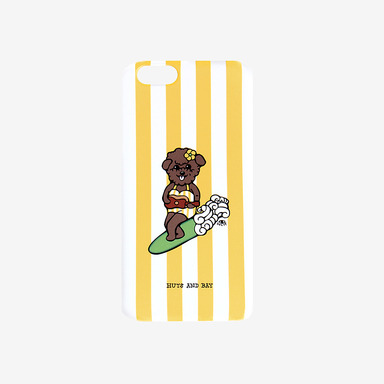 Surfing Dog Stripe Phone Case (Y)