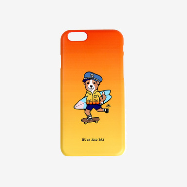 Surfing Dog Gradation Phone Case