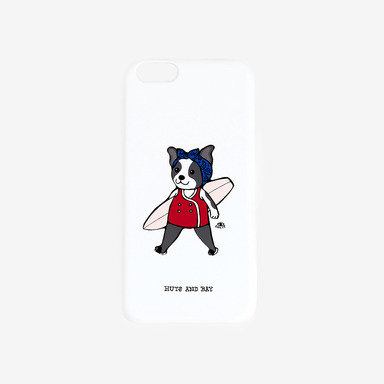 Surfing Dog White Phone Case