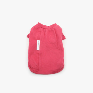White Label Cotton Tee (Coral Red)