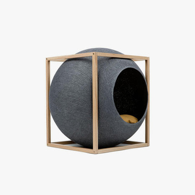 The Cube_Wood (Dark Grey)