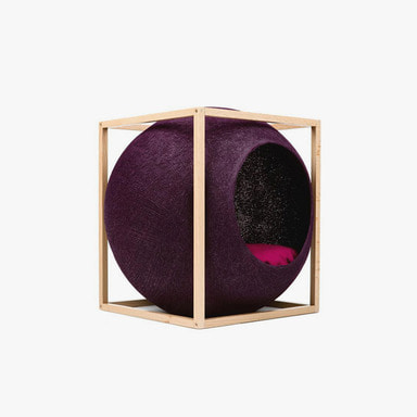 The Cube_Wood (Plum)