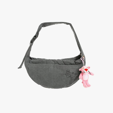 Pink Panther Messenger Sling Bag (Charcoal)