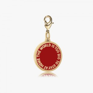 THE WORLD IS TOO BIG 2nd EDITION - RED GLOSSY GOLD BRASS