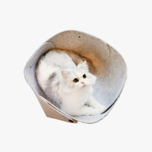Meow Meow Felt Basket For Cats